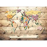 murando - Ilusion Optica 3D 210x150 cm - Fotomural Poster Finestra - Fotomurales Papel pintado - Quadro Mapa Mundi Mapa del Mundi Continente