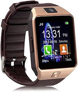 Reloj inteligente Padgene DZ09Bluetooth, con cámara, para Samsung S5, Note 2/3/4, Nexus 6, HTC, Sony y otros celulares Android, 1, Dorado
