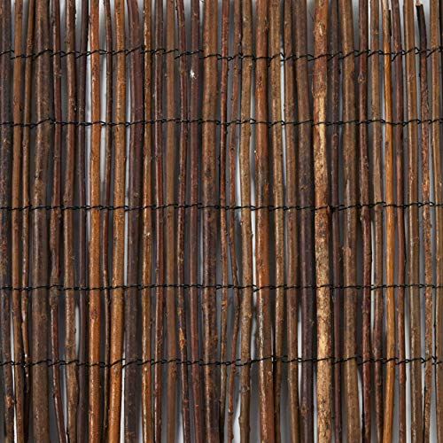 Master Garden Products RWB-24 Rolled Willow Border Fence, 2 by 14-Feet