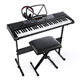 Joymusic 61key Standard Keys USB Music Player,Including Headphone,Stand,Stool & Power Supply-The Electronic Keyboards with The Joy trademarks are on Sale Randomly (Jk-63M-Kit)