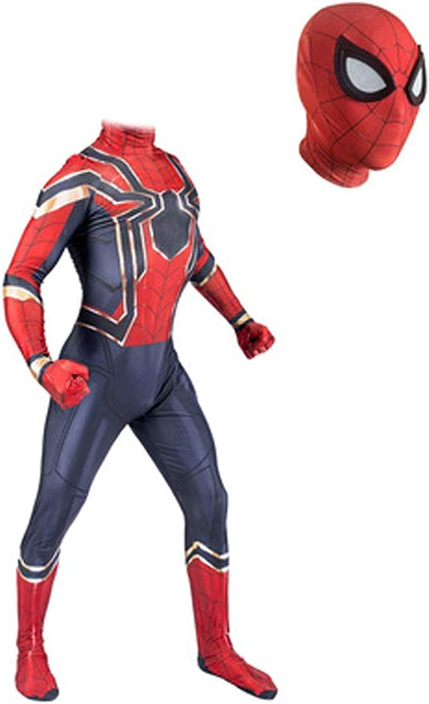 HYYSH Avengers 4 Iron Man Spider-Man Strumpfhose Cosplay (Größe   XL)