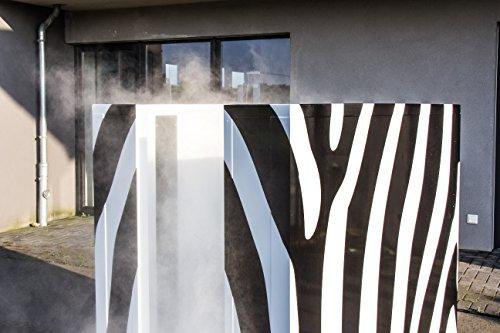 COOLBOX Nebelkabine für hygienische Saunaerfrischung im Zebra-Look (moderne Tauchbecken-Alternative) - 3