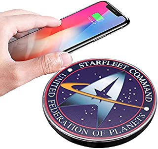 Star Trek Qi Wireless Charger with 8000 mAh Backup Battery Pack for Wired and Wireless Charging. Portable Wireless Phone C...