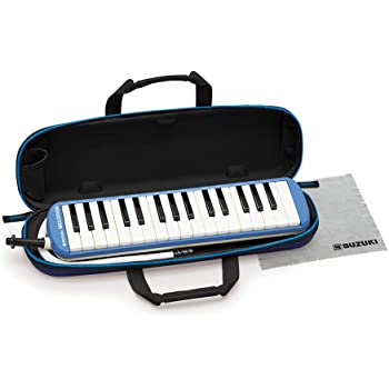 SUZUKI スズキ 鍵盤ハーモニカ メロディオン アルト 32鍵 ブルー FA-32B 軽量本体 通学に優しいセミハードケース