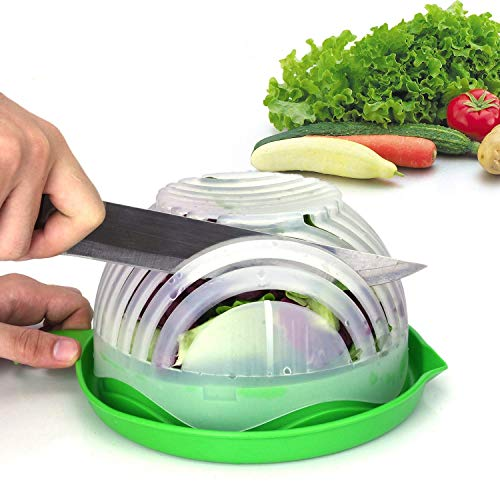 Salad Cutter Bowl Upgraded Easy Salad Maker by WEBSUN Fast Fruit Vegetable Salad Chopper Bowl Fresh Salad Slicer FDAApproved