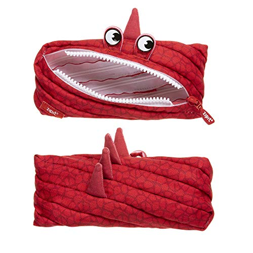 ZIPIT Dino Pencil Case, Dino Red