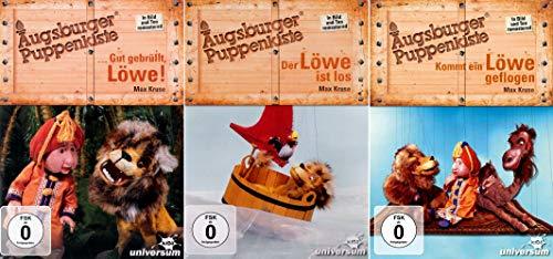 Der Löwe ist los + Kommt ein Löwe geflogen + Gut gebrüllt, Löwe! - Augsburger Puppenkiste - Löwentrilogie - Set Kollektion (3 DVDs)