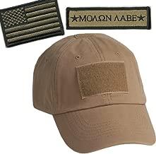 Gadsden and Culpeper Operator Cap Bundle w/USA & Molon Labe Patches