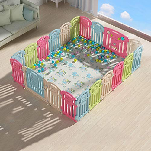 Check Out This Large Portable Baby Playpen Playard,Rectangle for Toddlers Play Yard with Door Activi...