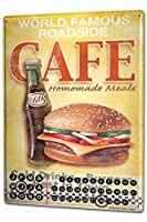 カレンダー Perpetual Calendar Bar Restaurant G. Huber Roadside Cafe Tin Metal Magnetic