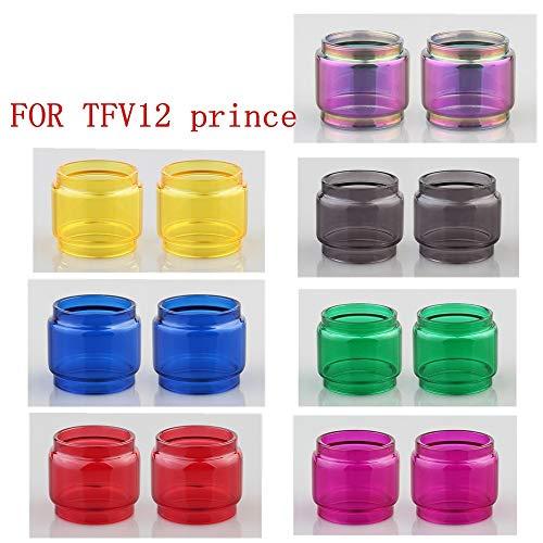 RUIYITECH 2 Tubos de Vidrio para SMOK TFV12 Prince Foco de Repuesto Tanque Pyrex Tubo de Vidrio Arcoíris