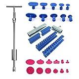 U/D Car Body Dent Removal Tool Dent Repair Puller Kit Slide Hammer Suction Cups for Hail Damage Car Dent Repair Tool
