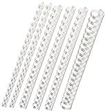 Plastik-Binderücken Sortiment 160-teilig (6-22 mm/max. ca. 190 Blatt), weiß