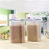 Cocina Mijo Barriles de granos Tanque de almacenamiento Almacenamiento de productos secos Plástico A prueba de humedad Caja de conservación fresca sellada para alimentos