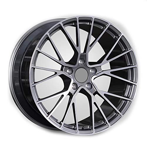 GYZD Alu Felgen 18 Zoll Durchfluss geschmiedete Radlegierung Ersatzrad Auto Rad Maschine Aluminium Felge Passend für R18 *9J Reifen Geeignet für macan 718 911 1 (Stück),L