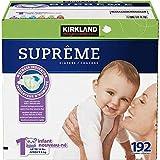 Kirkland Signature Supreme Diapers Size 1; Quantity: 192