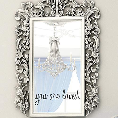 Calcomanías de pared – You are Loved – You are Loved – Calcomanías de espejo – Calcomanías de pared para niños – Decoración de pared – Regalos para ella – Vinilo de pared para guardería