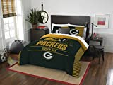 """Officially Licensed NFL Green Bay Packers""""Draft"""" Full/Queen Comforter and 2 Sham Set, 86"""" x 86"""""""