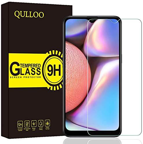 QULLOO Panzerglas für Samsung Galaxy A10s, [2 Stück] Panzerglas Schutzfolie 9H Hartglas HD Displayschutzfolie Anti-Kratzen Panzerglasfolie Handy Schutzglas Glas Folie für Samsung Galaxy A10s