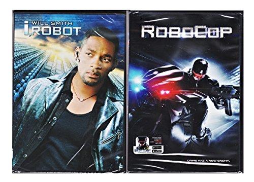 I, Robot (Widescreen Edition) [DVD] (2007) & RoboCop 2014 Sci-Fi DVD irobot Movie Set
