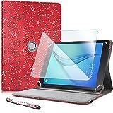 Karylax - Funda protectora para Archos Oxygen 101 4G (incluye protector de pantalla de cristal flexible y lápiz capacitivo), color rojo