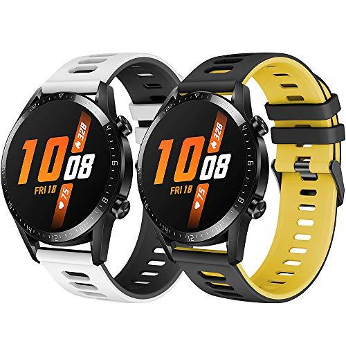 TOPsic Correa Huawei Watch GT 2/Huawei Watch GT Fashion/Sport/Active/Elegant/Classic/Gear S3 Frontier/Galaxy Watch 46mm/S3 Classic, 22mm Pulsera de Repuesto de Silicona Banda