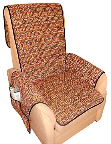 Holzdrehteile Sesselschoner Sesselauflage Sesselbezug Schoner Überwurf Auflage bunt