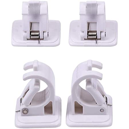 Set of 2 free shipping Nail-free Smart Rod Bracket Holders