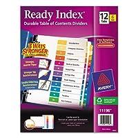 Readyインデックスカスタマイズ可能なテーブルの内容、Asstディバイダー、12-tab、Ltr、6セット 1-Pack [並行輸入品]