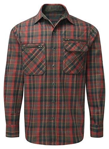 Shooterking Groenlandia Hombres Camisa de Manga Larga, Camiseta, Hombre, Color Verde y Rojo, tamaño 5X-L