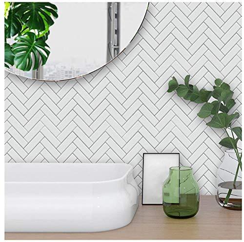 ZCQFFF witte visgraat stijl tegel Sticker slaapkamer keuken woonkamer muur Sticker