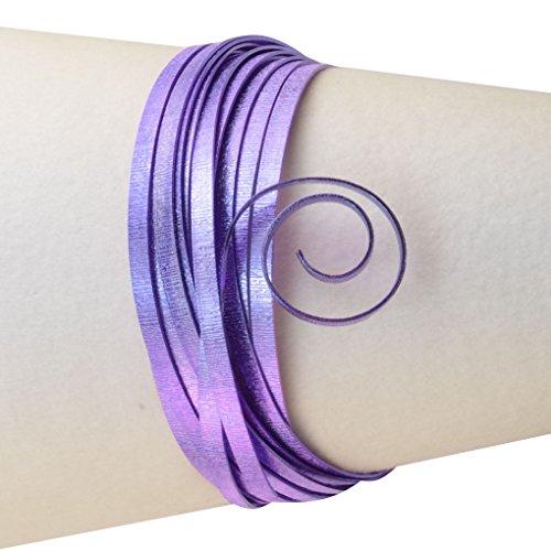 Vaessen Creative - Filo Metallico di Alluminio con goffratura Piatta, 5 x 1 mm, 5 m Viola