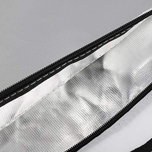 Qqmora Bolsa ignífuga Impermeable 38CM * 28CM Papel de Aluminio Tela de Fibra de Vidrio Computadoras Papelería Importante Accesorios Seguros para Documentos Importantes