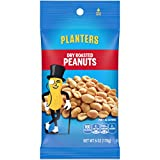 Planters Dry Roasted Peanuts (6 oz Packets, Pack of 12)