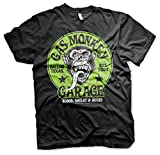 Gas Monkey Garage Licenza Ufficiale Green Logo Maglietta Uomo Mezze Maniche (Nera), Medium