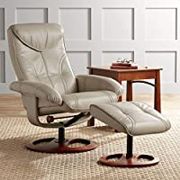 BenchMaster Newport Taupe Swivel Recliner