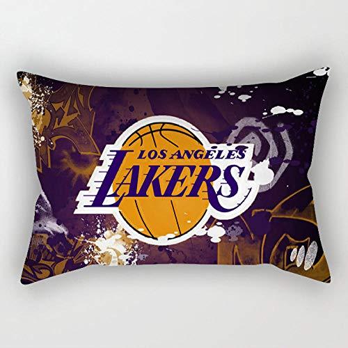 Los fanáticos de la NBA Equipo de Almohadas Lakers Warriors Cohete Piel de melocotón sofá Cintura Almohada cojín de Coche cojín-30X50CM sin Almohada Core_Team badge-06