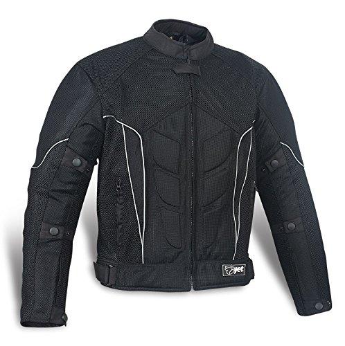 JET Chaqueta de moto motocicleta chaqueta con armadura malla noir