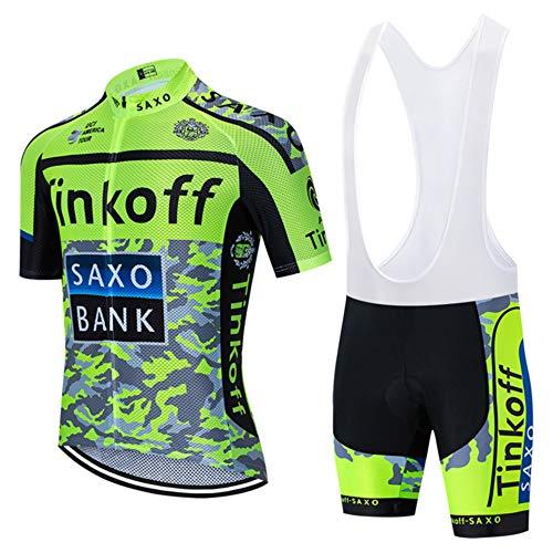 CHHBS Manches Courtes Été Maillot Cyclisme Homme Tenue de Vélo Jersey +Lycra Vélo Pantalons,Vêtements de Cyclisme Homme