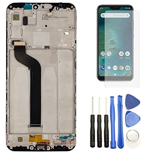 Hypak Pantalla IPS LCD para Xiaomi Mi A2 Lite (Completa con Marco) Repuesto Cristal Tactil Digitalizador VB (Negro)