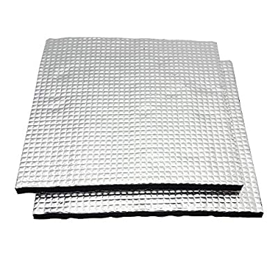 CNLOYUA 2 pieces 220 x 220 mm 3D printer heated bed insulation platform hot bed, for Anycubic i3 Mega, Creality Ender 3, Anet A8, Lulzbot Taz CR10 Tevo Mega A20 Prusa Maker Flashforge