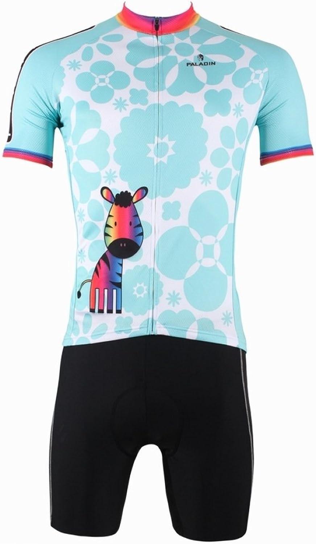 PaladinSport Men's Cartoon Pony Pattern Short Sleeve Bike Clothes And Shorts Set
