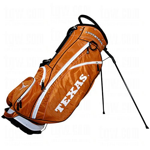 Team Golf NCAA Texas Longhorns Fairway Golf Stand Bag, Lightweight, 14-way Top, Spring Action Stand, Insulated Cooler Pocket, Padded Strap, Umbrella Holder & Removable Rain Hood