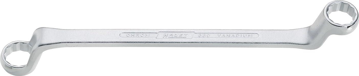 HAZET 両口めがねレンチ(75度ディープオフセット) 18X19mm 63018X19