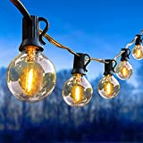 Outdoor String Lights, ORAOKO 52FT LED Patio String Lights with 30+2 G40 Clear Bulbs, UL Listed Waterproof Globe String Lights 2700K Outdoor Lights for Cafe Porch Wedding Backyard Party Decor