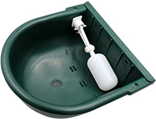 MACGOAL Automatic Waterer Bowl with Float Valve and Drain Plug, Large Dog Bowl for Livestock Horse Cattle Goat Sheep Pig