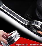 Door Entry Guards Scratch Cover Protector Paint Threshold,Carbon Fiber Rubber car Bumper Door Guard /Rear Bumper Guard Scratch Scratch Protection Strip 100% Waterproof(5CM X2.5M)