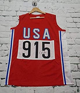 Carl Lewis Signed Autographed USA Track & Field Jersey (JSA COA)