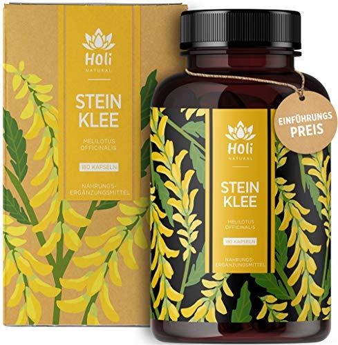 Holi Natural® Steinklee Kapseln | 180 vegane Kapseln | 1000mg je Tagesdosis | ECHTE Melilotus Officinalis Venen Kapseln | Hochdosiert & Laborgeprüft (180 Kapseln)