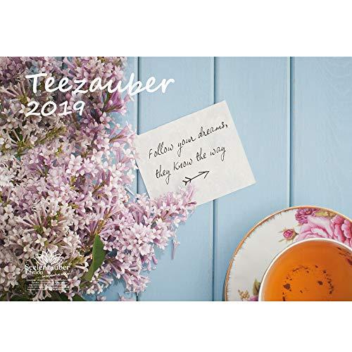 Theemagie · DIN A3 · Premium kalender 2019 · thee · ontspanning · genot · Cadeauset met 1 wenskaart en 1 kerstkaart · Edition Zelmagie